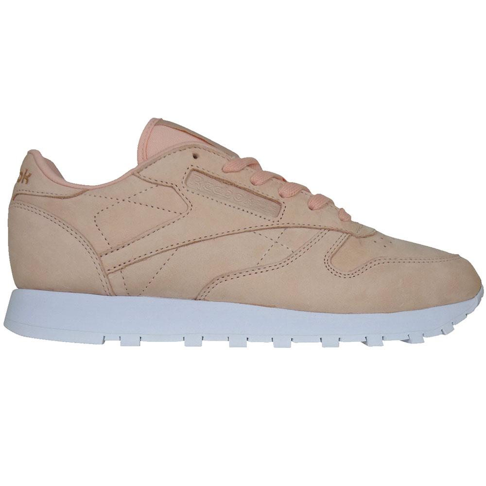 Reebok Classic Leather Nude Nubuk Damen Sneaker rose cloud
