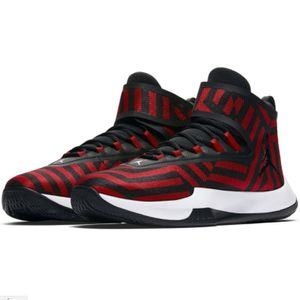 Jordan Fly Unlimited Basketball High-Top rot schwarz AA1282 602 – Bild 3