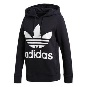 adidas Originals Trefoil Hoodie Damen CE2408 schwarz weiß – Bild 1