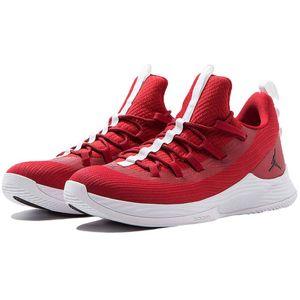 Jordan Ultra Fly 2 Low Herren Basketball Sneaker rot weiß AH8110 601 – Bild 3