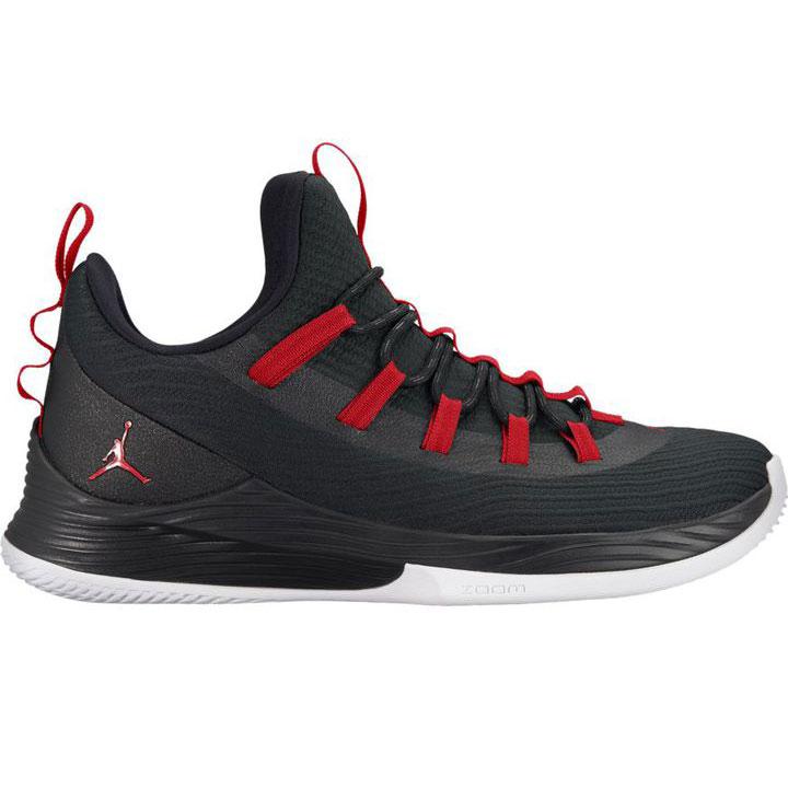 Jordan Ultra Fly 2 Low Herren Basketball schwarz weiß rot AH8110 001