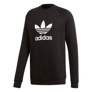 adidas Originals Trefoil Crew Pullover Herren schwarz weiß CW1235 – Bild 1