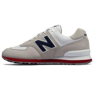 New Balance ML574ESA Herren Sneaker 638591-60-3 grau rot  – Bild 2