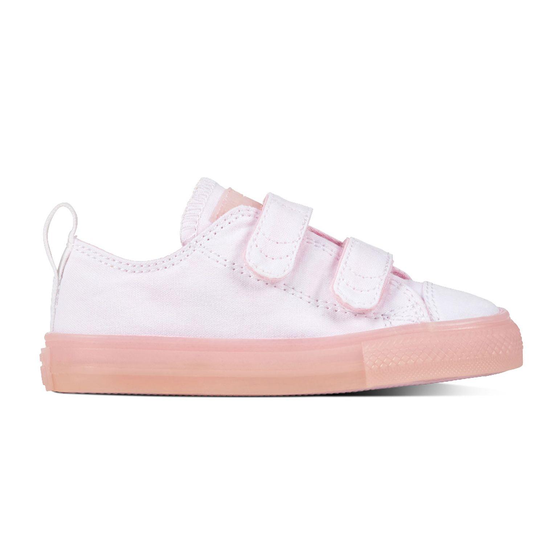 Converse All Star 2V OX Chucks Kinder Klettschuh weiß pink 760750C