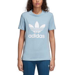 adidas Originals Trefoil Tee Damen T-Shirt ash grey CV9891 – Bild 5