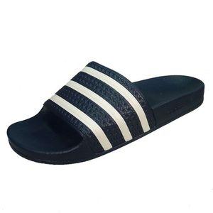 adidas Originals Adilette Badeschuhe blau weiss G16220 – Bild 2