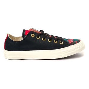 Converse CTAS OX Chuck Taylor All Star black cherry red 561663C – Bild 1