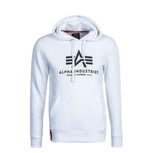 Alpha Industries Herren Basic Hoody weiß schwarz