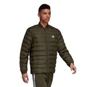 adidas Originals SST Outdoor Jacket Herren Steppjacke olive DJ3193 – Bild 2