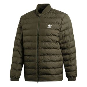 adidas Originals SST Outdoor Jacket Herren Steppjacke olive DJ3193 – Bild 1