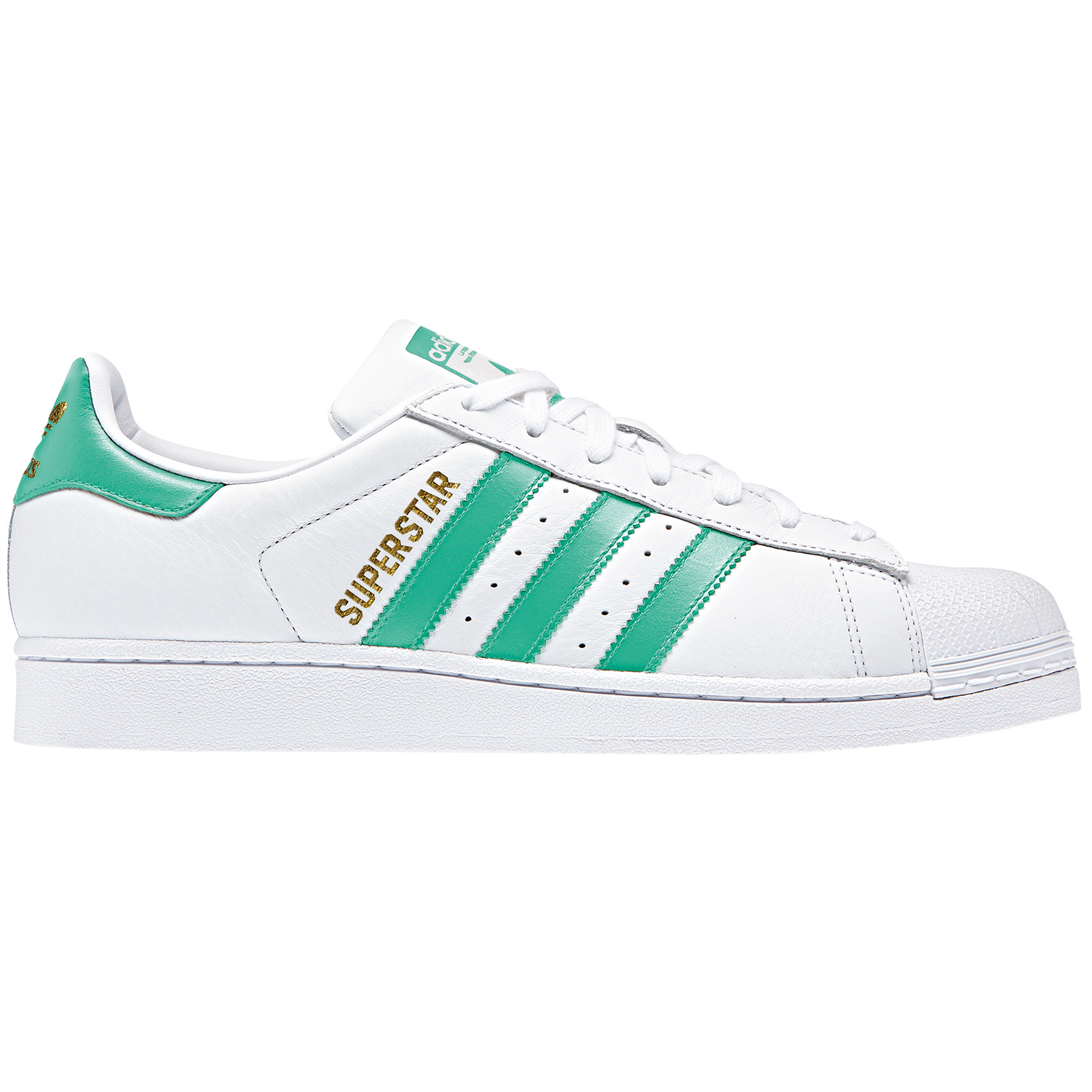 adidas Originals Superstar Damen Sneaker weiß grün B41995