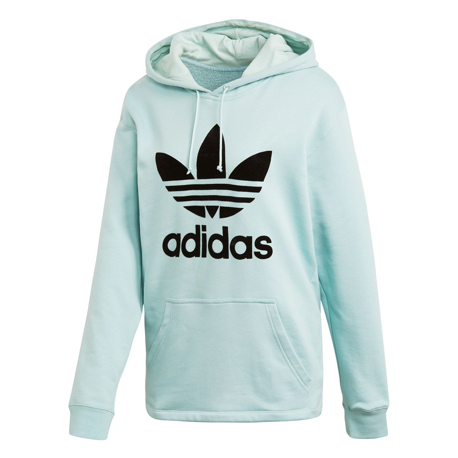 classic fit well known hot product adidas Originals Oversize Hoodie Damen ash green DH4256