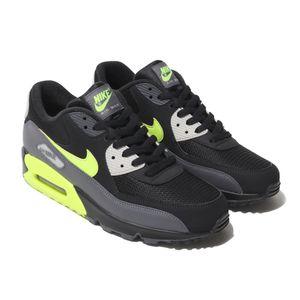 Nike Air Max 90 Essential Herren Sneaker schwarz grau neon AJ1285 015 – Bild 3