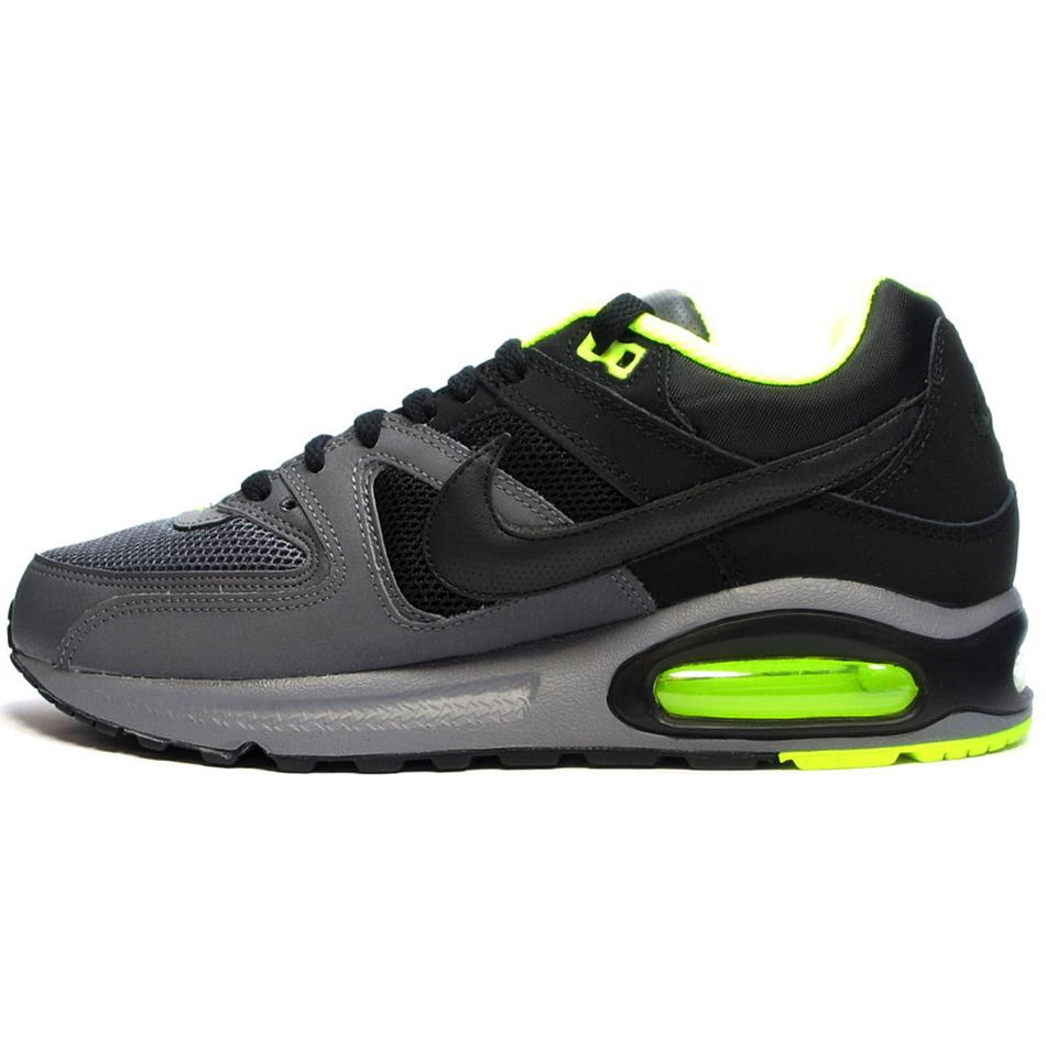 nike air max command herren sneaker schwarz grau neon. Black Bedroom Furniture Sets. Home Design Ideas