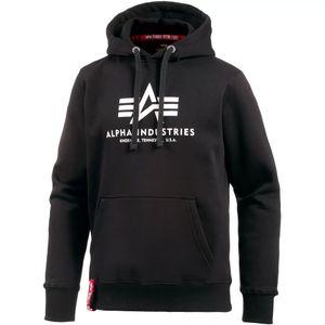 Alpha Industries Herren Basic Hoody schwarz weiß – Bild 1