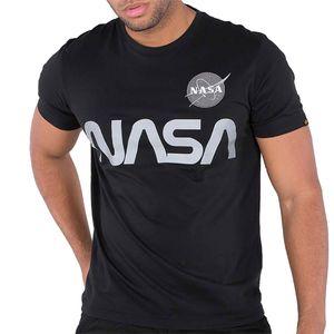 Alpha Industries NASA Reflective Tee Herren T-Shirt schwarz 178501 03