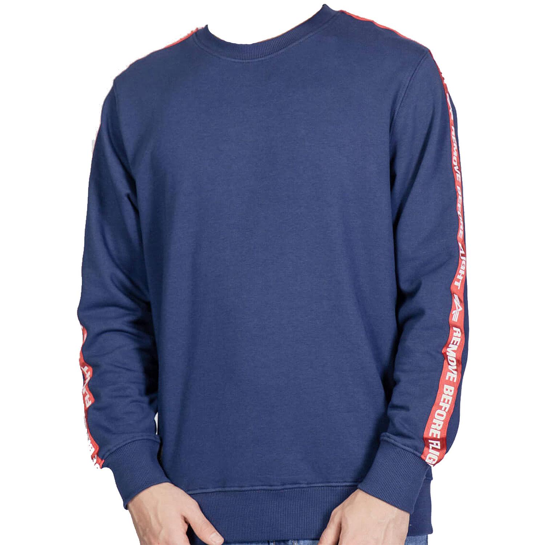 Alpha Industries RBF Tape Sweater Herren blau