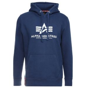 Alpha Industries Herren Basic Hoody blau