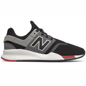 New Balance MS247FB Herren Sneaker flach schwarz grau rot – Bild 1
