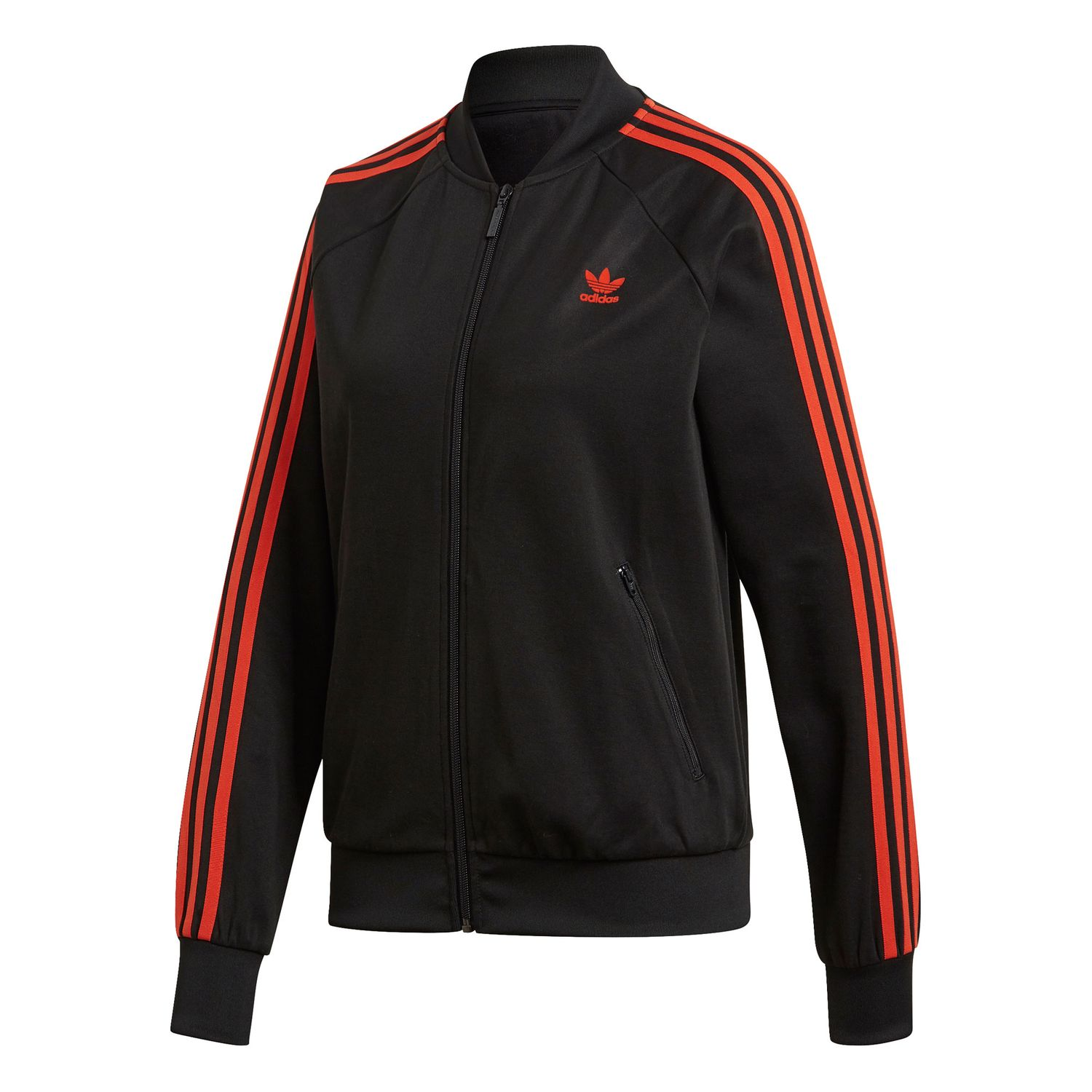 adidas Originals SST Track Top Damen Jacke schwarz orange DU9941