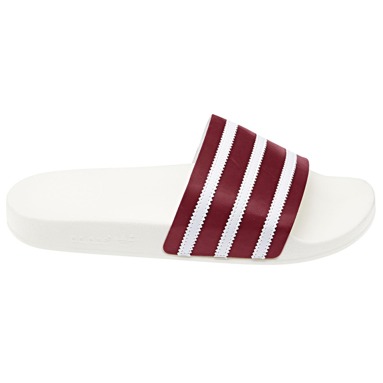 adidas Originals Adilette Badeschuhe off white burgundy BD7574