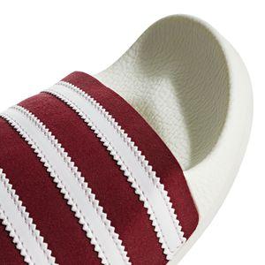 adidas Originals Adilette Badeschuhe off white burgundy BD7574 – Bild 2