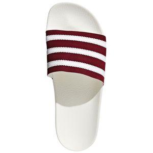 adidas Originals Adilette Badeschuhe off white burgundy BD7574 – Bild 5