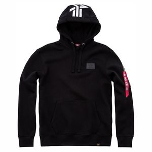Alpha Industries Herren Back Print Hoody schwarz
