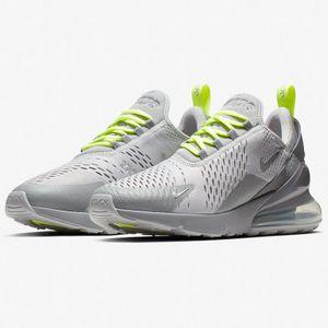 Nike Air Max 270 Herren Sneaker grau neongelb CD7337 001 – Bild 2