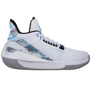 Jordan 2X3 Basketball High-Top Sneaker Herren weiß grau – Bild 1