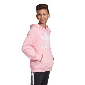 adidas Originals Junior Trefoil Hoodie Kinder pink weiß DV2877 – Bild 5