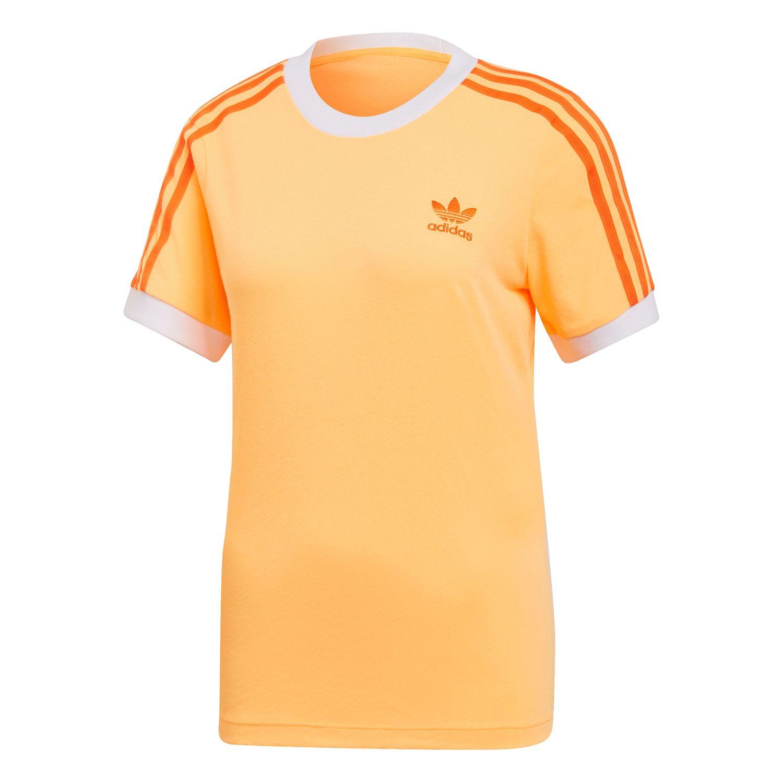 adidas Originals 3-Stripes Tee Damen T-Shirt Flash Orange ED7475