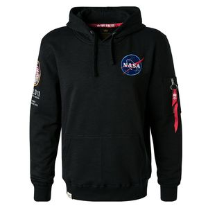 Alpha Industries Apollo 11 Hoody Pullover schwarz 188310/03 – Bild 1