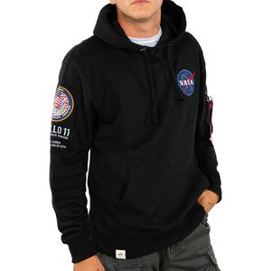 Alpha Industries Apollo 11 Hoody Pullover schwarz 188310/03 – Bild 2