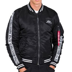 Alpha Industries MA-1 AI-Tape Bomberjacke schwarz 198101/03