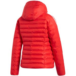 adidas Originals Slim Jacket Damen Steppjacke rot weiß ED4785 – Bild 2