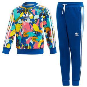 adidas Originals Crew Set Kleinkind Anzug blau mehrfarbig ED7775 – Bild 1