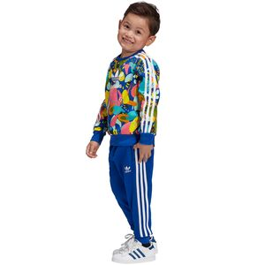 adidas Originals Crew Set Kleinkind Anzug blau mehrfarbig ED7775 – Bild 2