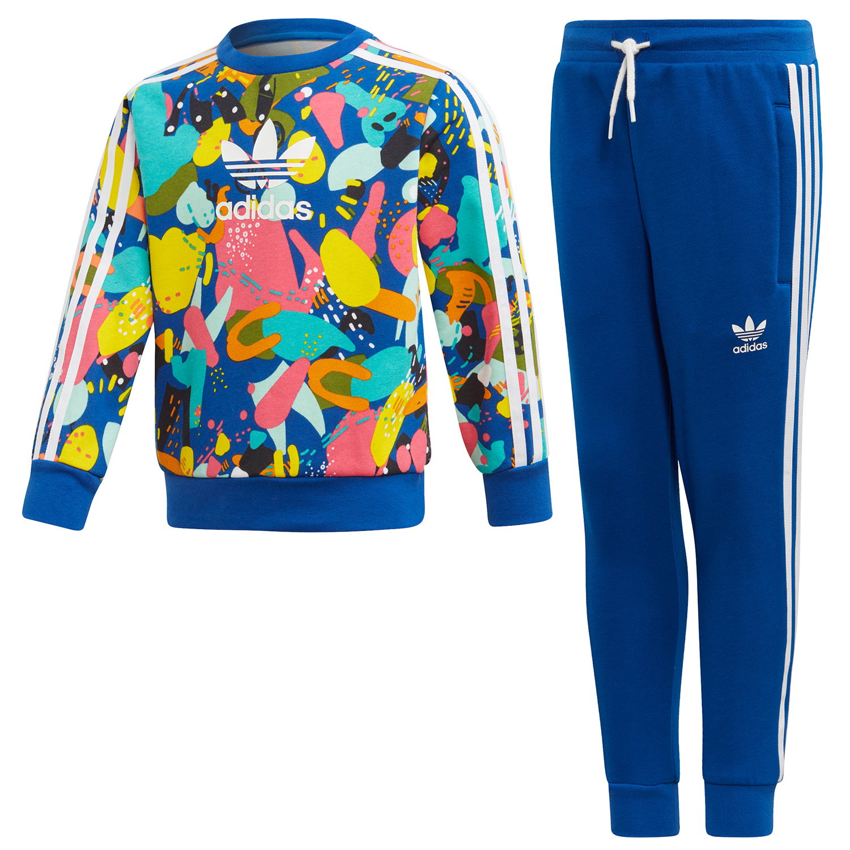 adidas Originals Crew Set Kleinkind Anzug Gr. 122 blau ED7775