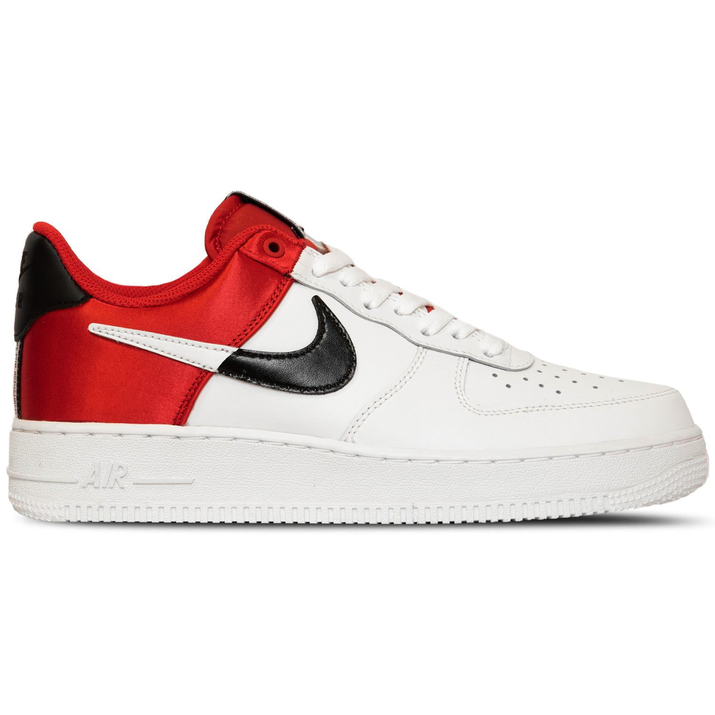 Nike Air Force 1 `07 LV8 1 Herren Sneaker weiß schwarz rot BQ4420 600