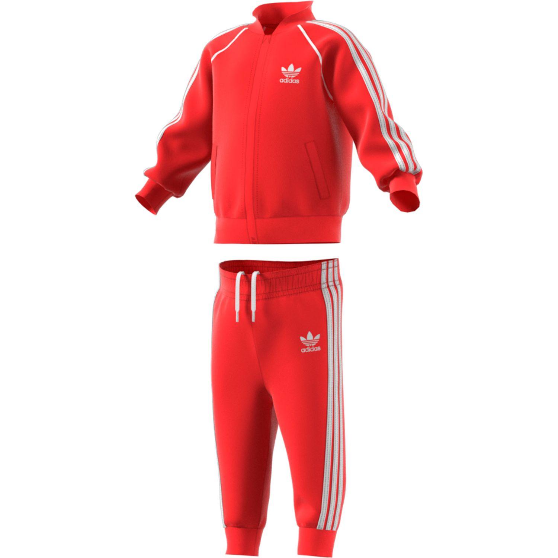 adidas Originals Superstar Suit Set Kleinkind Anzug rot FM5585