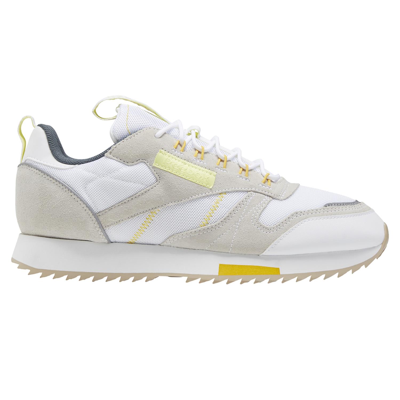Reebok Classic Leather Ripple Trail Sneaker white lemon glow EG6472