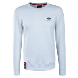 Alpha Industries Basic Sweater Small Logo weiß  – Bild 1