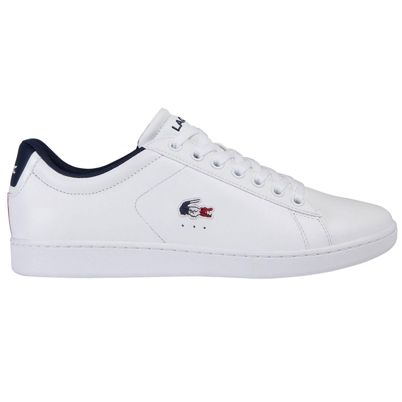Lacoste Carnaby Evo Tri1 Herren Sneaker weiß blau rot