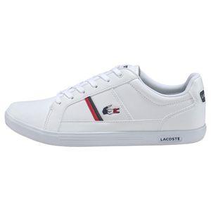 Lacoste Europa TRI1 Herren Sneaker weiß blau rot – Bild 2