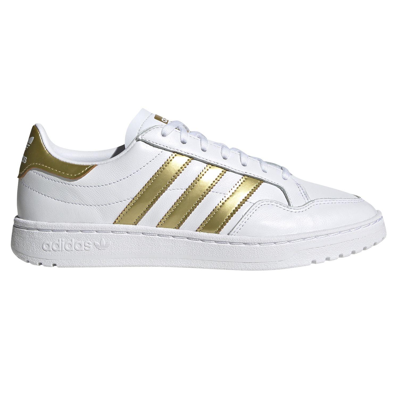 adidas Originals Team Court W Damen Sneaker weiß gold EF6058 | Schuhroom.de