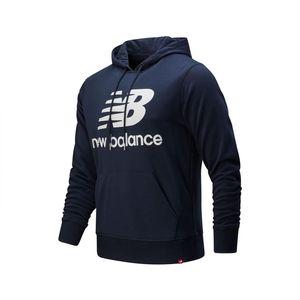 New Balance MT91547 ECL Herren Essentials Stacked Logo Hoody navy – Bild 1