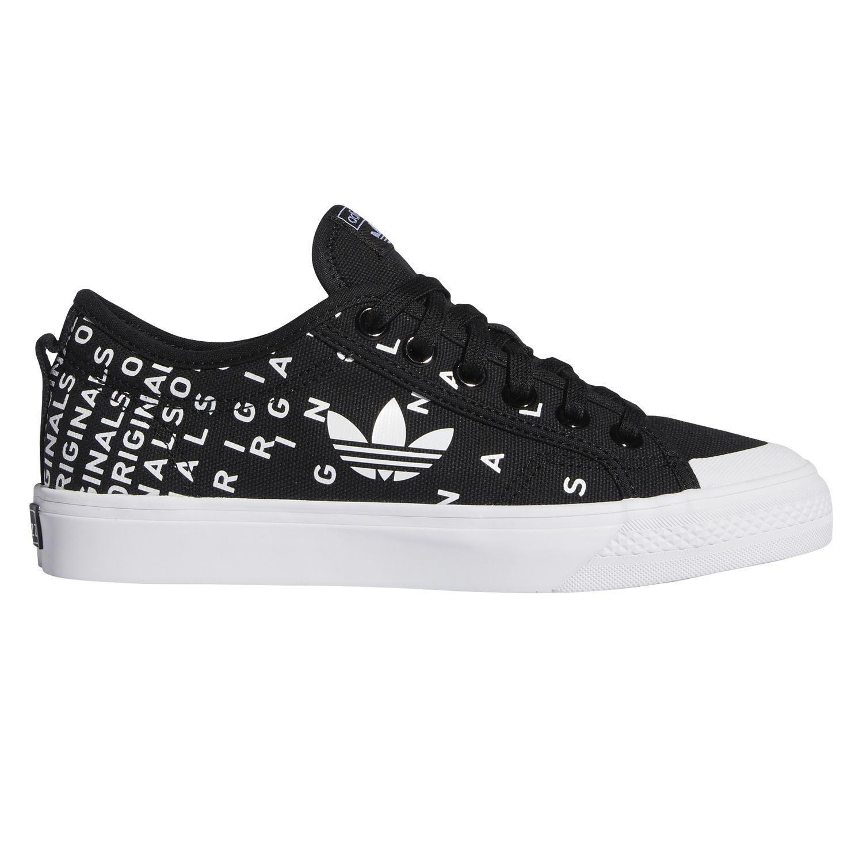adidas Originals Nizza Trefoil W Damen Sneaker schwarz weiß