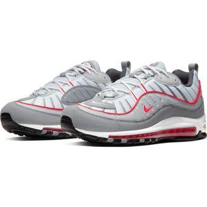 Nike Air Max 98 Herren Sneaker grau weiß rot CI3693 001 – Bild 3
