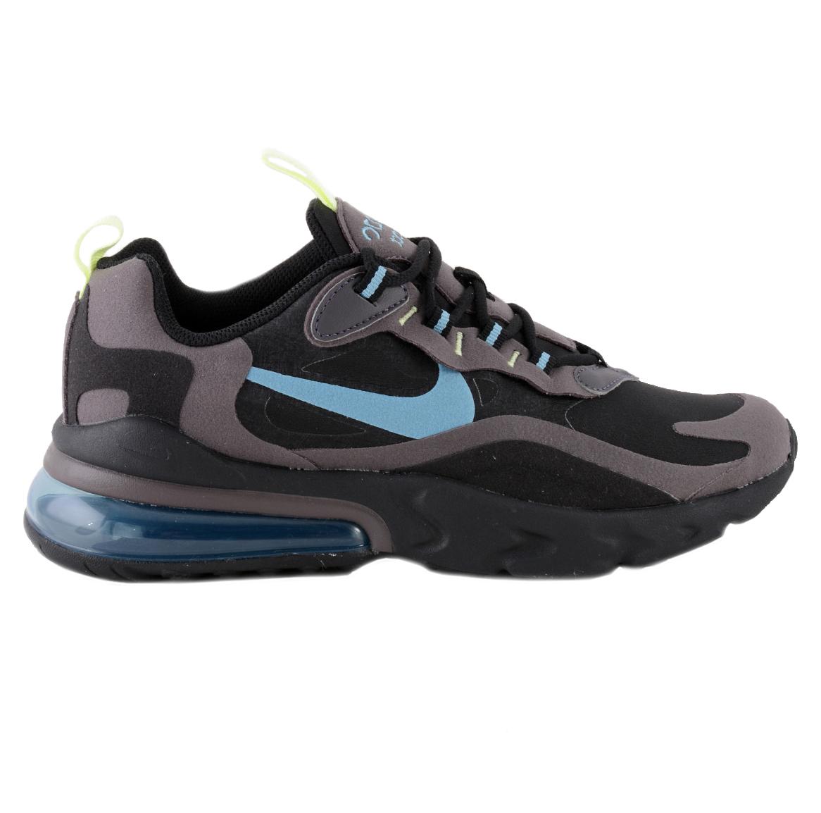 Nike Air Max 270 React GS Kinder Sneaker schwarz grau blau |